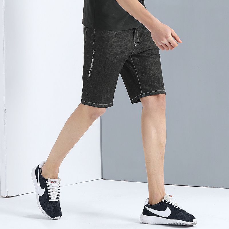 Pioneer Camp New summer black short jeans men brand clothing fashion solid bermuda shorts male quality casual short ADK703101