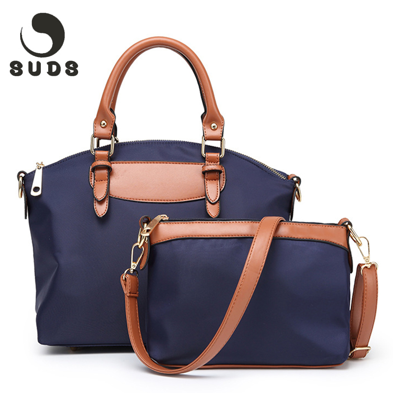 SUDS Luxury Canvas Nylon Bag Women Set Fashion Designer Handbags High Quality Waterproof Crossbody Bags For Women 2017 Zipper 2017 summer fashion canvas bag luxury handbags women bags designer shoulder canvas bag printed white women shopping bag