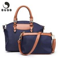 SUDS Luxury Canvas Nylon Bag Women Set Fashion Designer Handbags High Quality Waterproof Crossbody Bags For Women 2019 Zipper