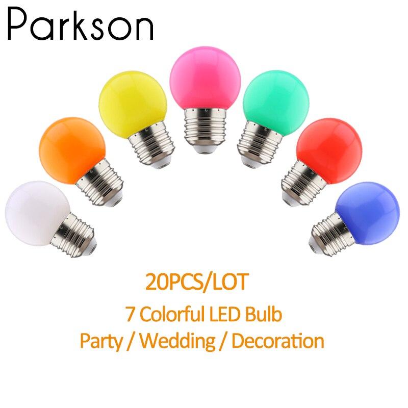 Colorful Lampada Led Lamp E27 220V Globe Light Bulb 7color Bombillas Led Bulb SMD 2835 Led Light bar Home Decor Holiday Lighting