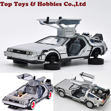 Back to the Future Fly version 1/24 Scale Metal Alloy Car Diecast Model  Part 2 1 3 Time Machine DeLorean DMC-12 Model Toy