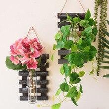 Настенный висячий горшок для растений, набор пластиковых настенных и настольных корзин для растений, комнатных садовых цветочных Горшков