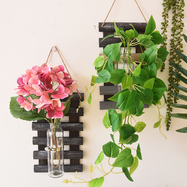 Wall Hanging Plant Pot Set Plastic Desktop Planter Basket Indoor Garden Flower Pots