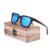 Gafas de Sol de Los Hombres De Madera de Bambú de madera gafas de Sol de Las Mujeres Diseñador de la Marca Original de Gafas De Madera gafas de sol-2B-01