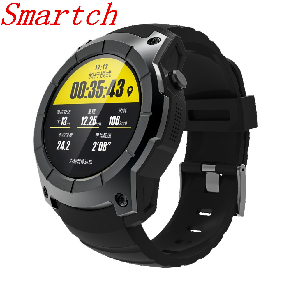 Smartch S958 GPS Smart Watch Multi-function Sport Watch Heart Rate Monitor Watch Support SIM TF Card Barometer Activity Track Mu smartch s958 smart watch sport waterproof heart rate monitor gps 2g sim card calling all compatible smartwatch for android ios c