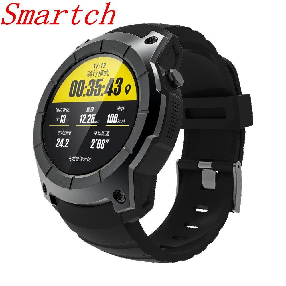 Smartch S958 gps Смарт часы Multi-function Спортивные Часы сердечного ритма мониторы часы Поддержка SIM TF карты барометр активности трек Mu