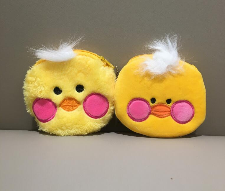 2models, Sweet Small Duck Plush Purse Coin Purse , 10cm Plush Purse Coin Bag Pouch Without Return