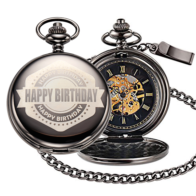 happy birthday mechanical pocket watch 800PX