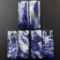Free Shipping Interesting Wholesale 6pcs Sodalite Oblong Pendant Bead 32x13x5mm HH3068