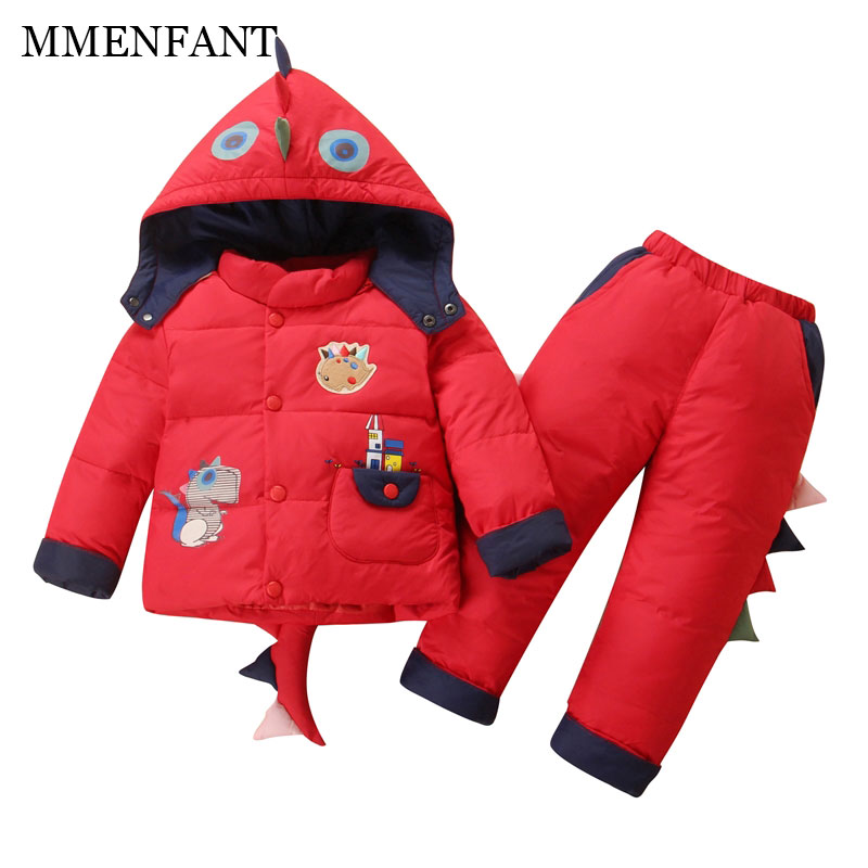 2017 winter Children clothing set Russia baby Girl Ski suit sets Boy's Outdoor sport Kids down coats Jackets+trousers -30degree 2016 winter boys ski suit set children s snowsuit for baby girl snow overalls ntural fur down jackets trousers clothing sets