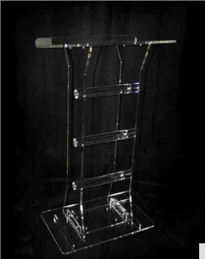 Großhandel Klar Leuchte Displays Plexiglas Angepasst acryl rednerpult kristall podium Acryl Podium Klar Rednerpult Kirche Kanzel