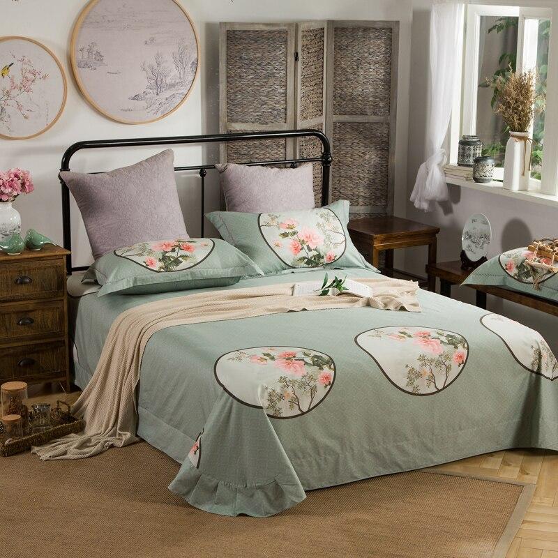 Китайский стиль, 100% хлопок, Королевский размер, Постельный набор, олень, Павлин Постельный набор, мягкие простыни/постельное белье, пододеял