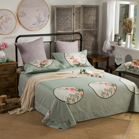 Chinese style 100%Cotton Queen King size Bedding Set Deer Peacock Bed set Soft Bed Sheet/linen Set Duvet Cover Pillowcases 40