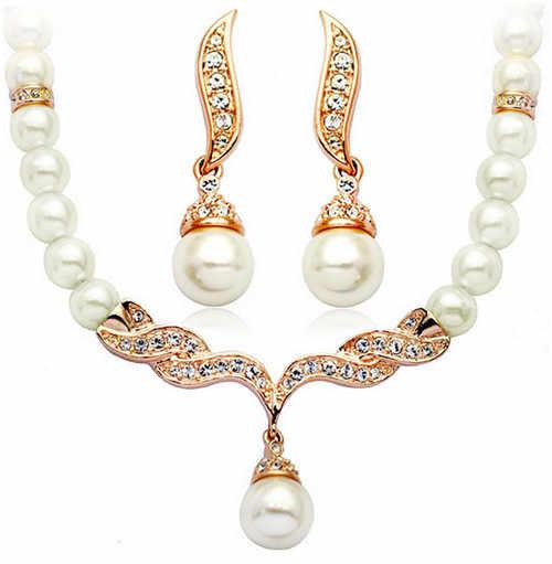 חיקוי פרל תליון שרשרת תכשיטים להגדיר משלוח drop קסם נשים חתונה ויליאם קייט מלכת יפה קלאסי