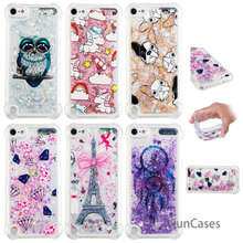 Diamond Bling Case sFor Funda iPhone Touch 5 Soft Silicone Phone Case Coque Transparent Silicone Case sFor iPhone iPod Touch 6(China)