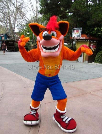 Crash Bandicoot Mascot Head Costume School Mascots Cartoon -8113