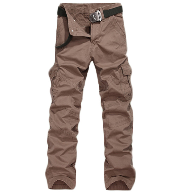 High-quality men's casual trousers Multi - pocket pants overalls Loose men's trousers 79yw
