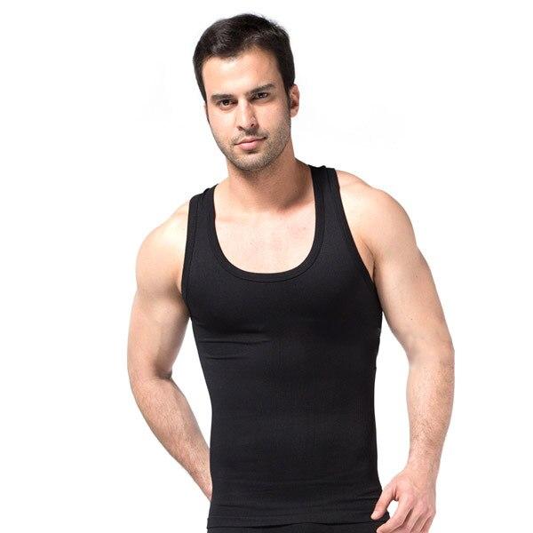 Men's Slimming Tummy Body Shaper Vest Seamless Underwear Cincher Shirt