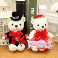 2 adet/takım 20 cm çift ayı düğün oyuncak ayı peluş oyuncaklar toptan Noel hediye düğün hediyesi