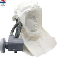 Обеспечить электрический воздух поставка респираторов маска для лица Мобильные перезаряжаемые высокой мощности полный респиратор капюшо