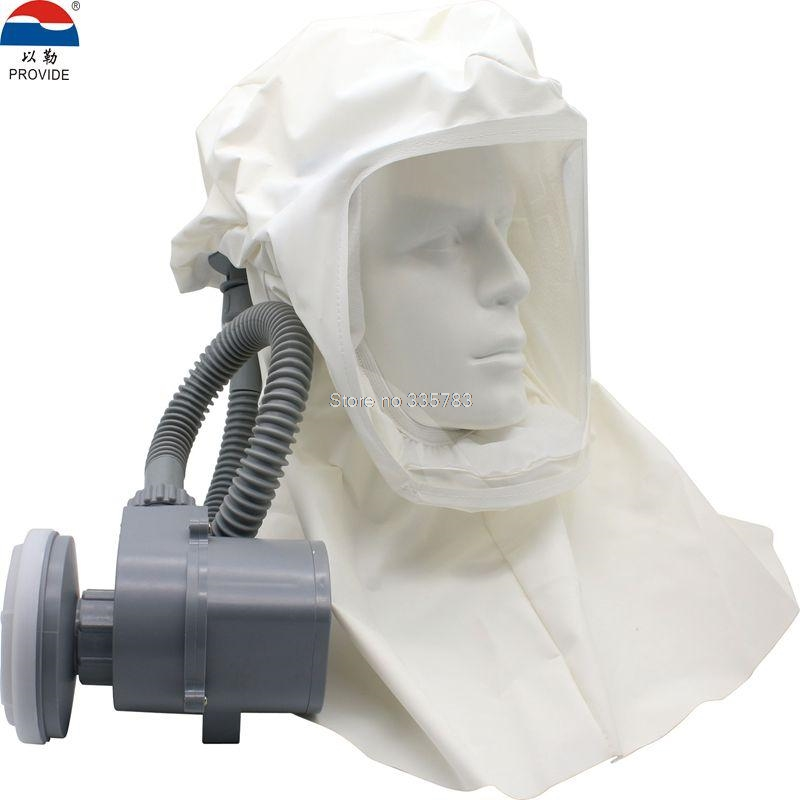 PROVIDE Electric Air Supply Respirator Face Mask Mobile Rechargeable High Power Full Face Respirator Hood Whole Protection Mask