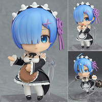 Anime Re : Life in a different world from zero Nendoroid Blue Rem Red Ram Kawaii Cute Action Figure Toys 10cm