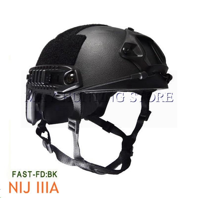 Tactical NIJ IIIA Bulletproof Helmet Hunting Fast Kevlar Core Ballistic Helmet for Shooting War Games