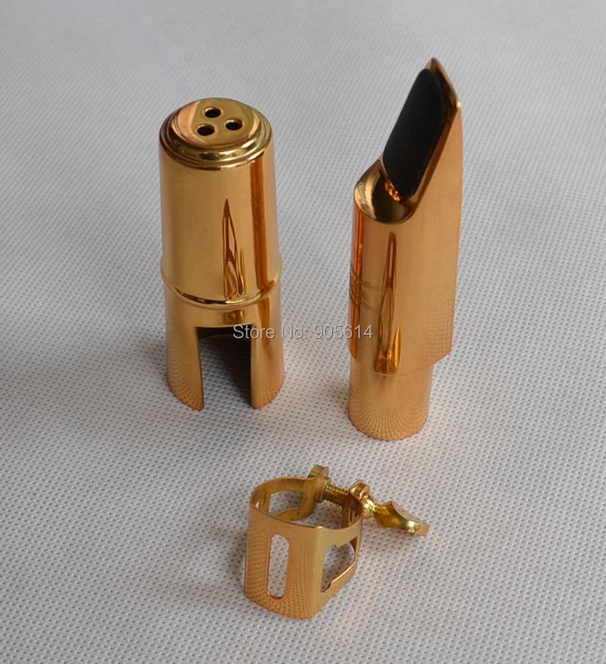 ФОТО Gold plated Alto Saxophone Sax Mouthpiece Size # 7