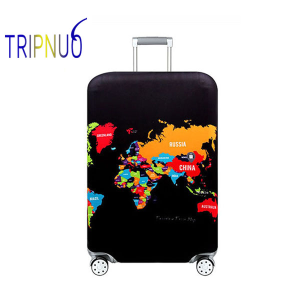 TRIPNUO World Map Travel Luggage Suitcase Protective Cover For Trunk Case Apply To 19''-32'' Suitcase Cover Elastic
