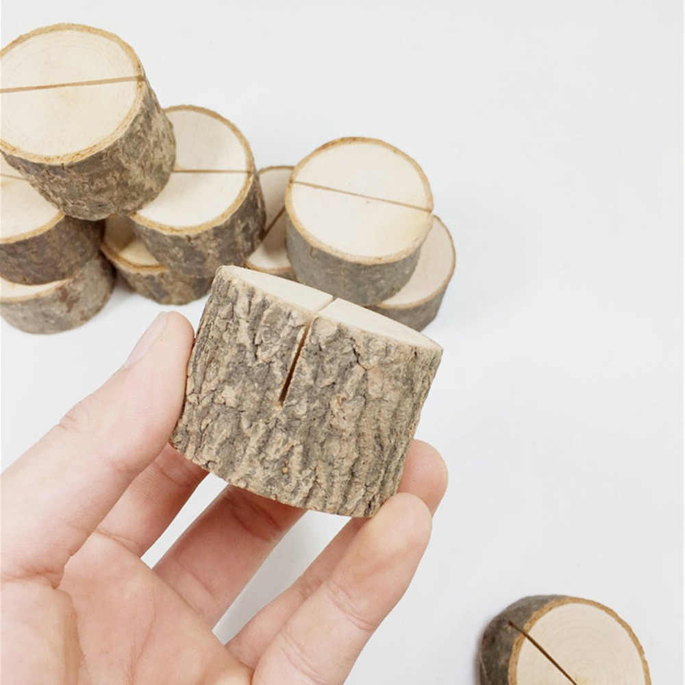 Log photo clip Bark Stump Crafts Ornaments Large card slot daily supplies health and beauty personal care products