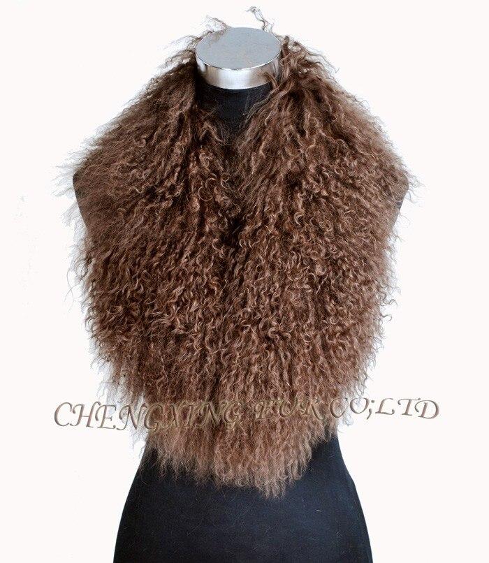 CX-A-52P из натуральной монгольской Овцы меховой воротник из натурального меха ягненка шарф шарфы накидка дизайн для леди