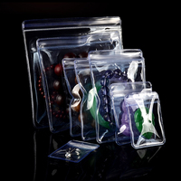 Transparent PVC Plastic Self Seal Bags Clear Anti oxidation Zip Lock Bag Jewelry Bracelet Jade Storage Package Pouch With Zipper