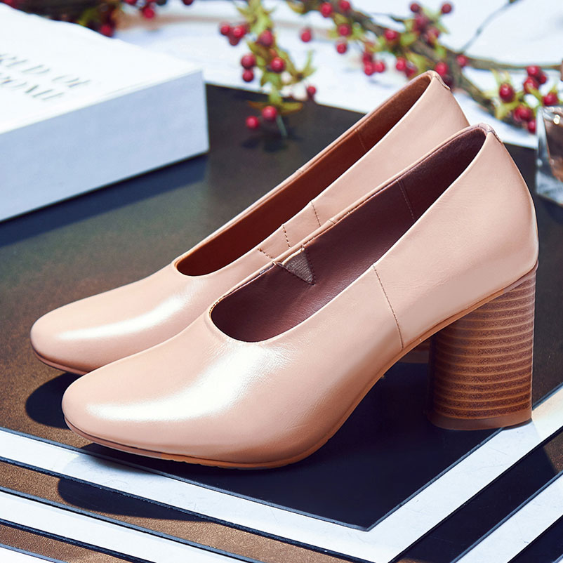 ФОТО Shoes Woman Elegant Women Pumps Fashion Ladies Shoes brand Spring Autumn 2016 High Heels Genuine Leather Women Pumps