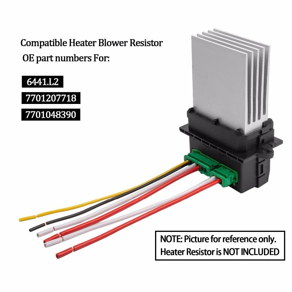 Новый кондиционер воздуходувки резистор + разъем/провод для Citroen Renault Megane Scenic Clio 6441L2 7701048390 6441. L2