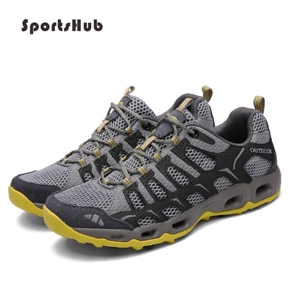 SPORTSHUB été respirant Aqua chaussures à séchage rapide unisexe eau chaussures à lacets en caoutchouc chaussures de marche chaussures de plein air S0011