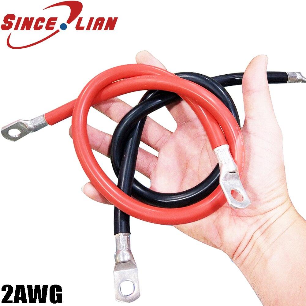 Кабель для аккумулятора, провод, удлинитель для автомобильного аккумулятора, 2AWG, шнур питания, соединительный кабель, высокомощный провод, ...