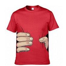 Funny T Shirt Men Fashion Tops Tees Summer Cotton Grab Your Big Hands O-Neck 3D Hand Print Best Friends Cartoon T Shirt Men