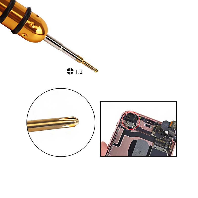 Kaisi 1 Precision Magnetic Screwdriver 1 2 1 5 0 8mm Phillips Tors Opening Repair Tools Hexagon Screwdriver For iPhone 6s in Screwdriver from Tools