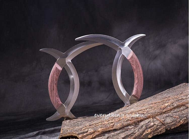 Wushu Double Deer Horns Ba Gua Yue Zi Wu Yuan Yang Wu-Sold as a pair 2 pieces