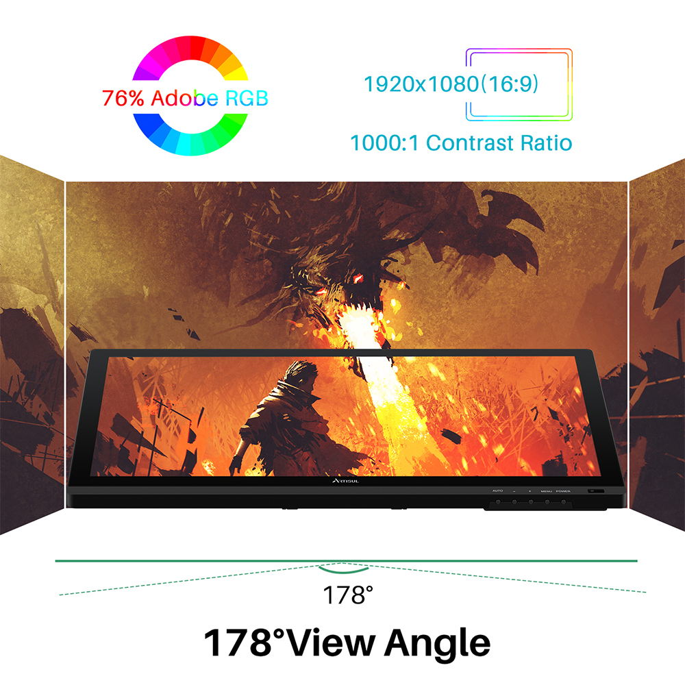 Artisul D22S Graphic Tablet with Screen 21 5 inch Pen Display Electronics Battery free Digital Drawing Tablet Monitor 8192 Level in Digital Tablets from Computer Office
