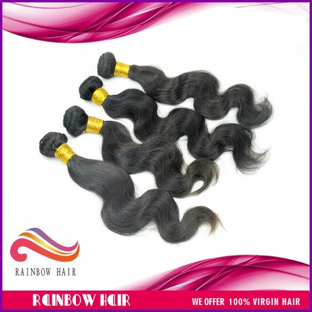 4pcs/lot peruvian body wave (mixed size) 100% virgin peruvian hair extension human hair free shipping