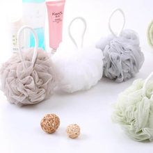 Loofah Bath Ball Mesh Sponge 1 PC Milk Shower Accessories Bathroom Supplies PE Bath Flower Super Soft(China)