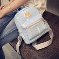 2016 bolso de cocodrilo de la pu de cuero mini mochila niños escuela back pack pequeña púrpura de las mujeres mochilas para adolescentes, wh0138