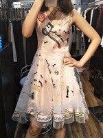 Видеть оранжевый милая девушка платье Италия Тяжелая вышитые цветочные Кружево платье для Для женщин яркий Блёстки v образным вырезом сетк