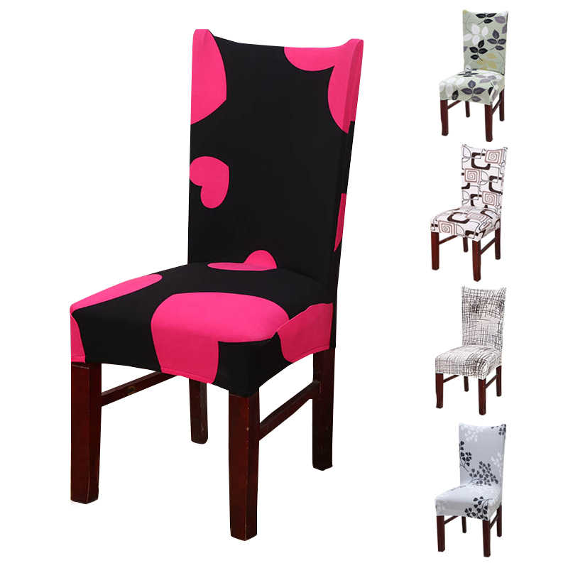 Floral Printing Chair Covers Spandex Elastic Chair Covers
