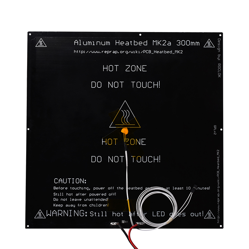 3D Printer heatbed MK2a 300 300 3mm Hot bed standard aluminum with Thermistor Cable RepRap RAMPS