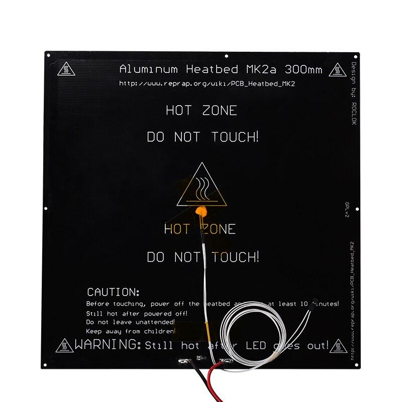 3D Imprimante heatbed MK2a 300*300*3mm Chaude lit standard en aluminium avec Thermistance Câble RepRap RAMPES 1.4 MK2B