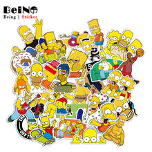 Simpsons Cartoon Anime Sticker Simpson Family Waterproof Suitcase DIY Laptop Guitar Luggage Skateboard Toy Lovely Stickers QY48(China)