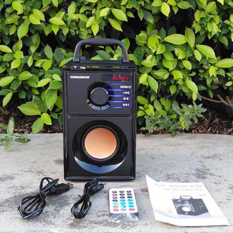 VAENSONG A10 ағаш HiFi Bluetooth спикер 2.1 Стерео - Портативті аудио және бейне - фото 6
