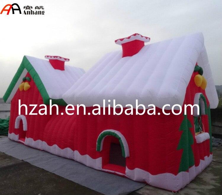 2017 nouvelle grotte gonflable de Santas de noël pour la décoration de noël